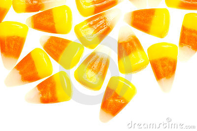 Candy corn isolated on white