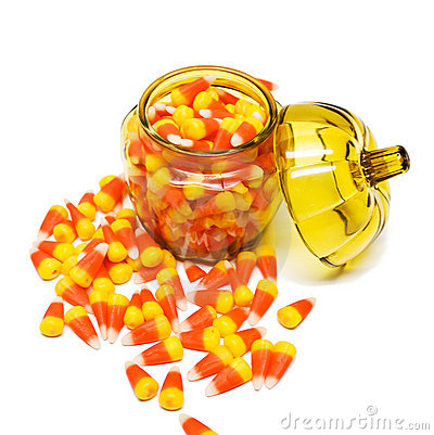 Candy Corn in Jar