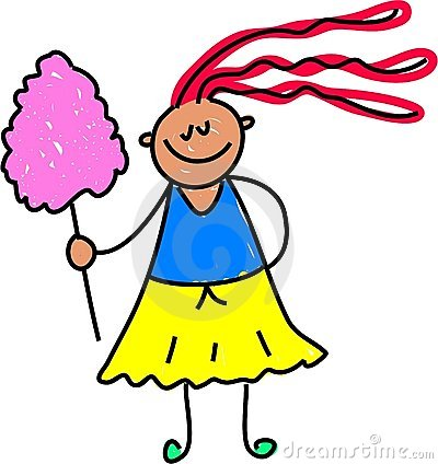 Free Candy Floss Kid Royalty Free Stock Photography - 910807