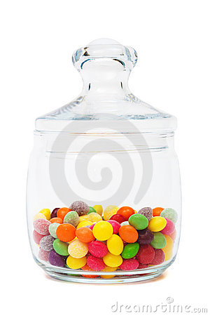 Candy in a glass jar