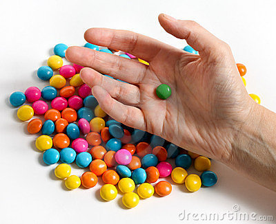 Candy with hand