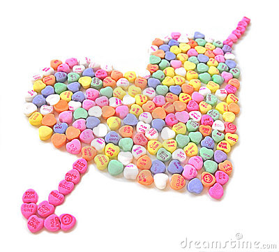 Candy Heart with arrow