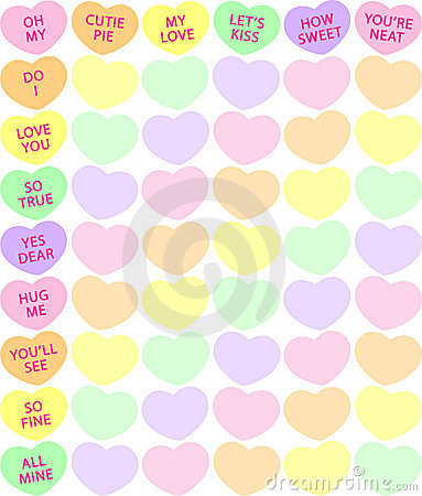 Free Candy Heart Background Royalty Free Stock Photos - 3990118