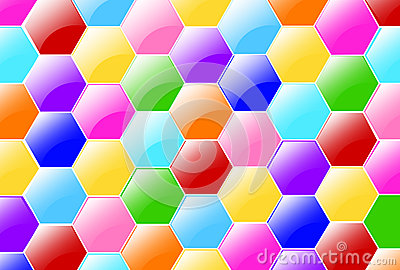 Candy Hexagons Wallpaper