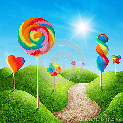 Free Candy Land Royalty Free Stock Photography - 34323477