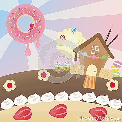 Candy landscape (vector)