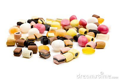 Candy with licorice