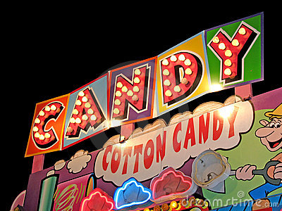 Candy light bulb sign