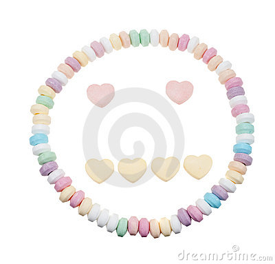 Candy necklace neutral face
