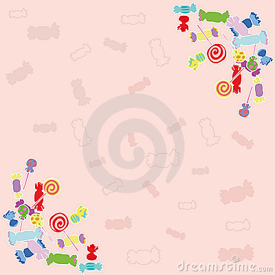 Candy pink background.