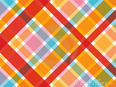 Candy red and pink plaid