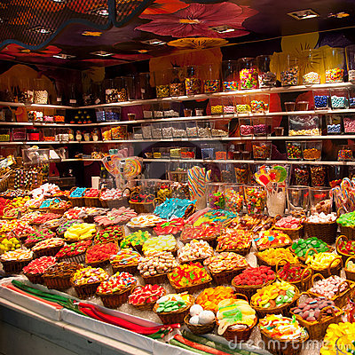 In a candy shop