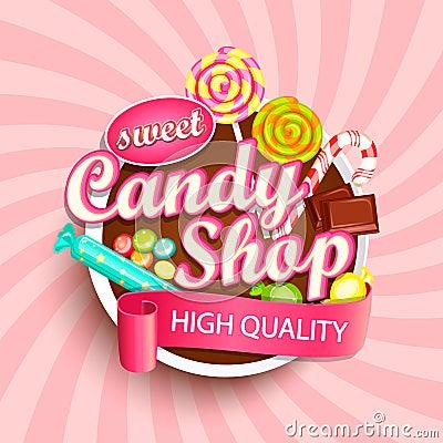 Free Candy Shop Logo, Label Or Emblem. Stock Images - 104020854