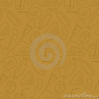 Candy shop seamless pattern