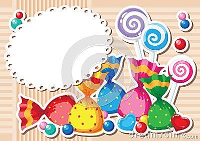 Candy sticker background