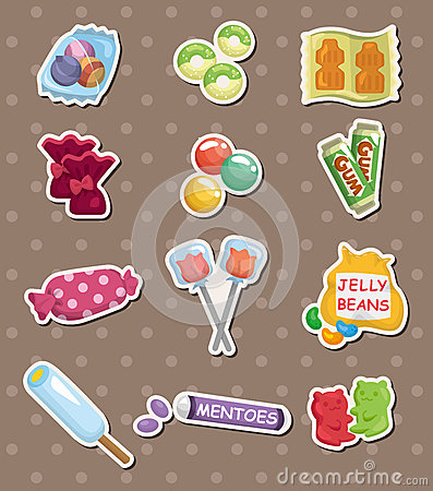 Free Candy Stickers Royalty Free Stock Images - 26517939