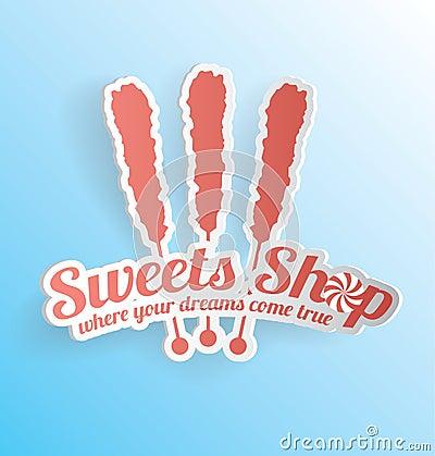 Candy Sweet Shop 3D Label
