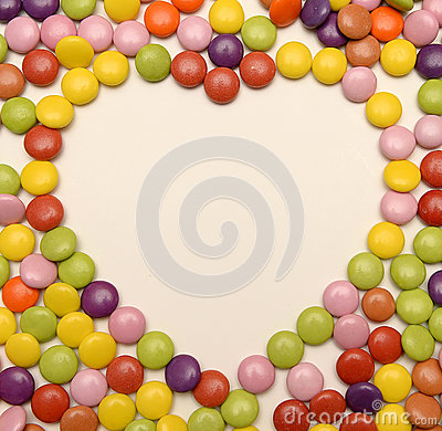 Free Candy Sweets In Love Heart Shape Royalty Free Stock Images - 37615409