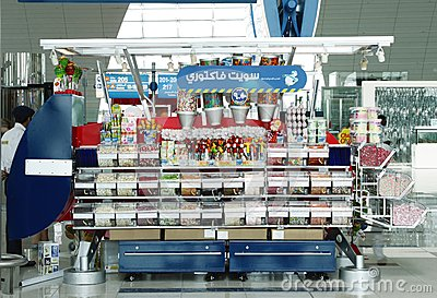 Candy and toy shop at Dubai International Airport Editorial Image