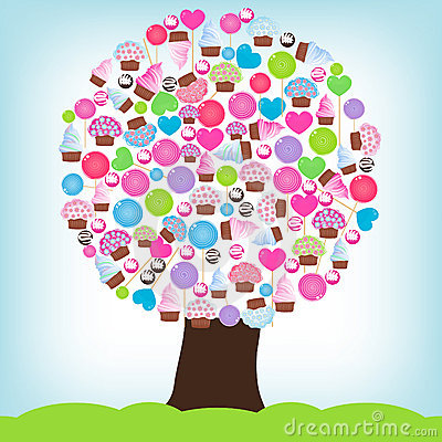 Free Candy Tree Stock Photography - 14877782