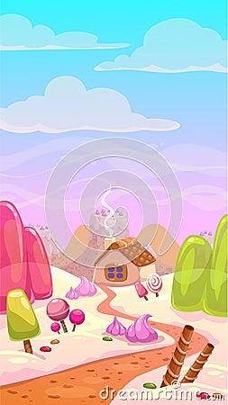 Free Candy World Illustration Stock Image - 58733611