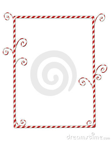 Candycane Border Isolated on White