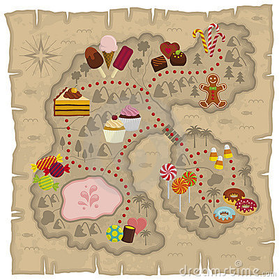Free Candyland Map Stock Photography - 12415872
