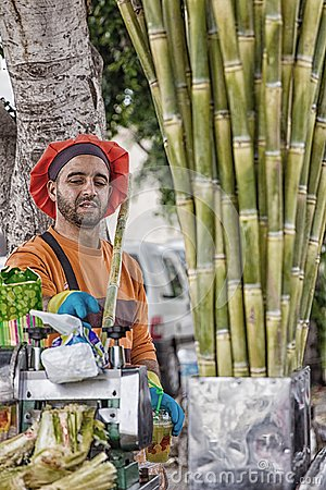 Free Cane Juice Seller In Morocco. Royalty Free Stock Images - 109090139