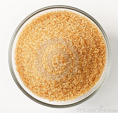 Free Cane Sugar In A Glass Bowl Royalty Free Stock Photos - 13624438