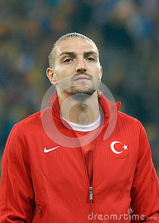 Caner Erkin in Romania-Turkey World Cup Qualifier Game Editorial Photo