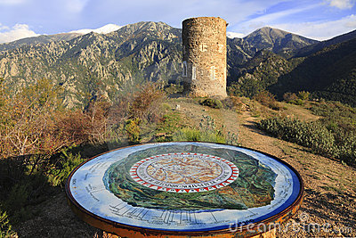 The Canigou massif Editorial Image