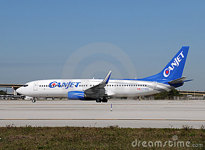 Canjet passenger airplane Editorial Stock Image