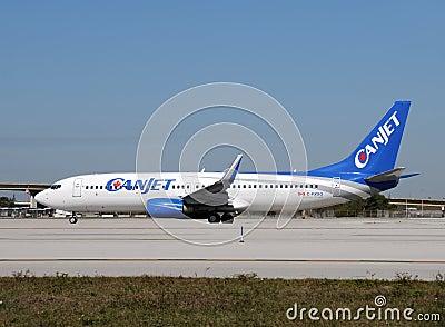 Canjet passenger airplane Editorial Stock Image