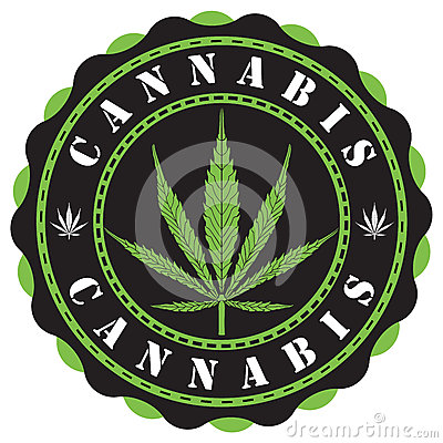 Free Cannabis Logo Royalty Free Stock Photos - 78335208