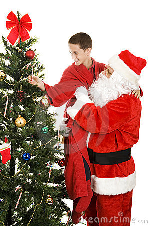 Canne de sucrerie pour Santa