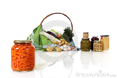 Canned carrots in a jar,  vegetables.