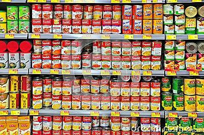 Canned food at hong kong supermarket