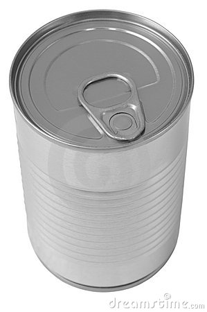 Canned food. Isolated