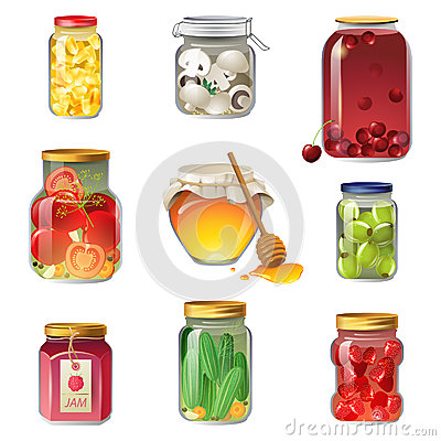 Free Canned Fruits And Vegetables Stock Image - 32379241