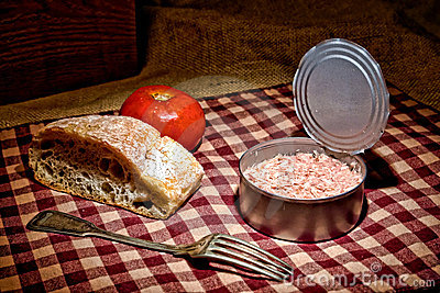 Canned Tuna Fish Lunch Vintage Style