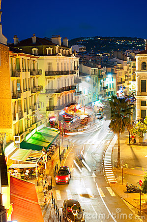 Free Cannes At Night Royalty Free Stock Images - 40251109
