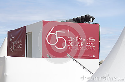 Cannes film festival 65th edition 2012 Editorial Image