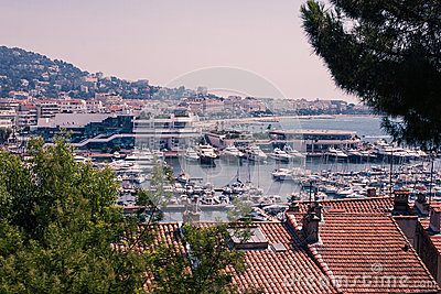 Cannes marina south of france