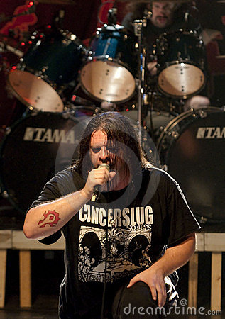 Cannibal Corpse on stage Editorial Image