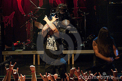 Cannibal Corpse on stage Editorial Photography