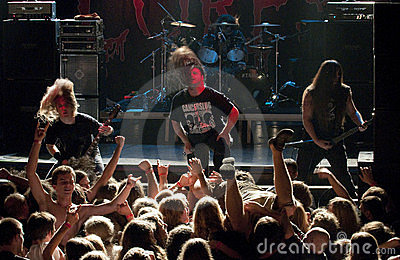 Cannibal Corpse on stage Editorial Stock Image