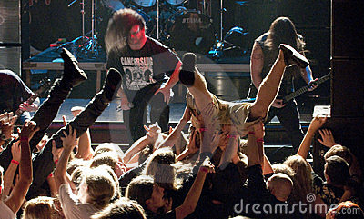 Cannibal Corpse on stage Editorial Stock Photo