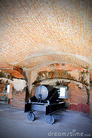 Cannon in Brick Gun Room