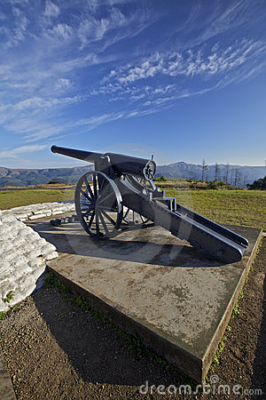 Cannon and cannon balls , Boer War