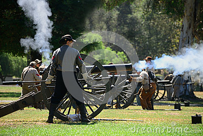 Cannon Firing Editorial Stock Image